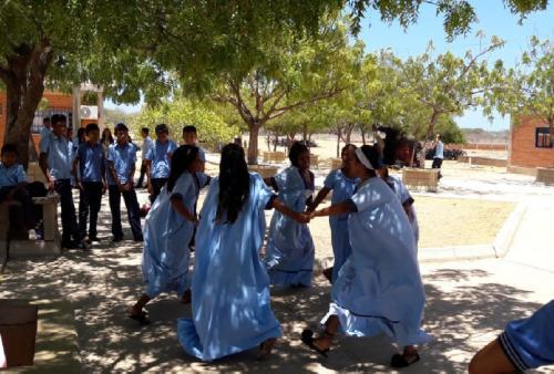 Encuentro con estudiantes del IE Laachón Mayapo